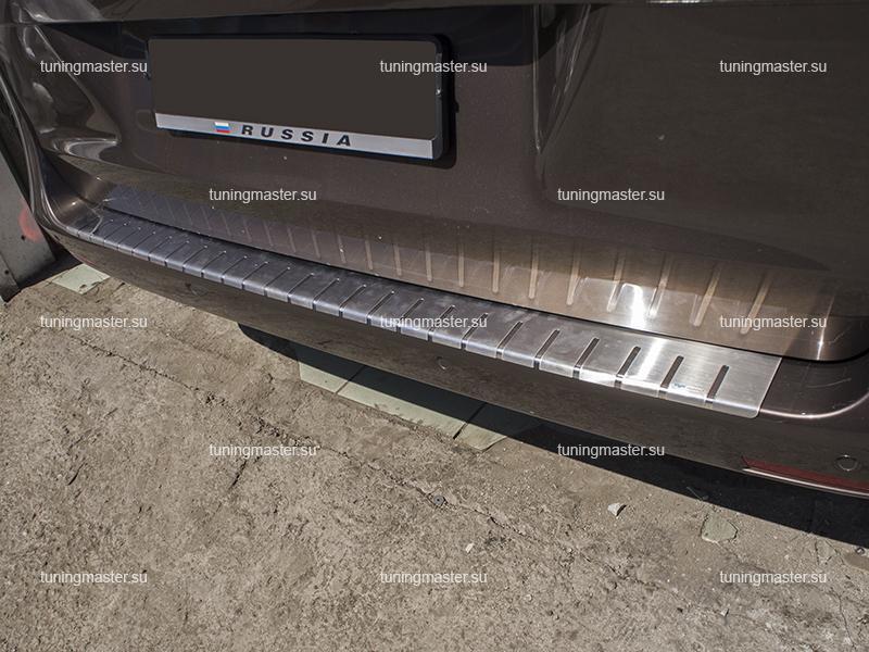 Накладка на задний бампер Mercedes Benz Vito W447 профилированная с загибом