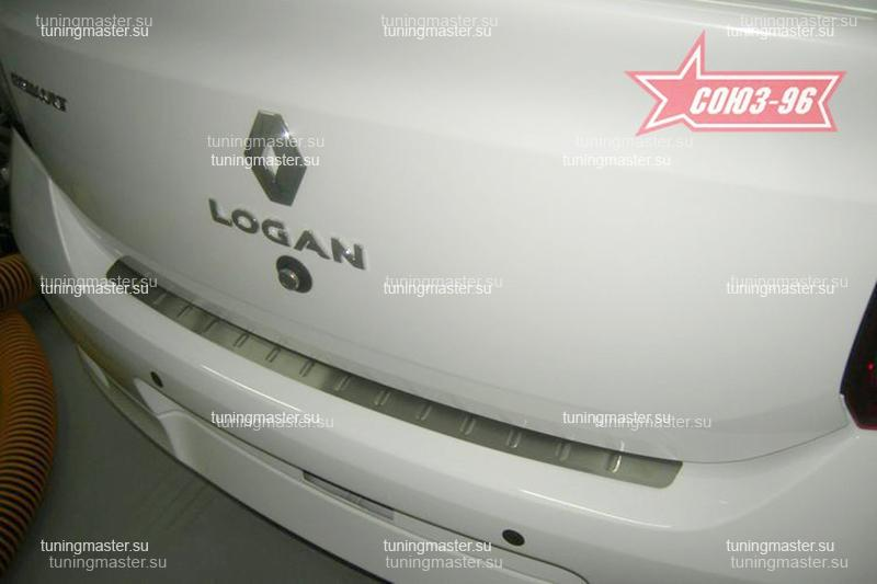 Накладка на задний бампер Renault Logan