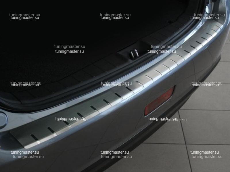 Накладка на задний бампер Mitsubishi ASX профилированная с загибом