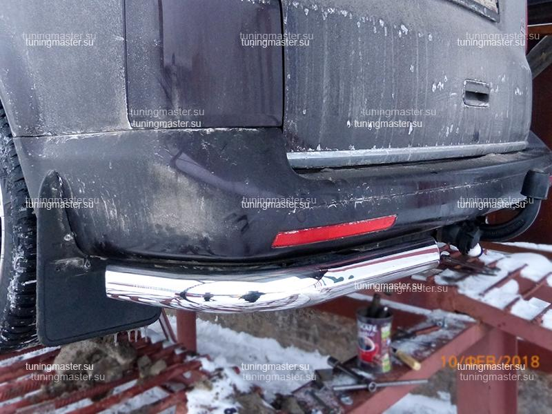 Защита заднего бампера VolksWagen Transporter T6 углы Ø60