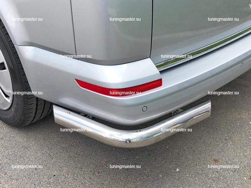 Защита заднего бампера VolksWagen Transporter T6 углы