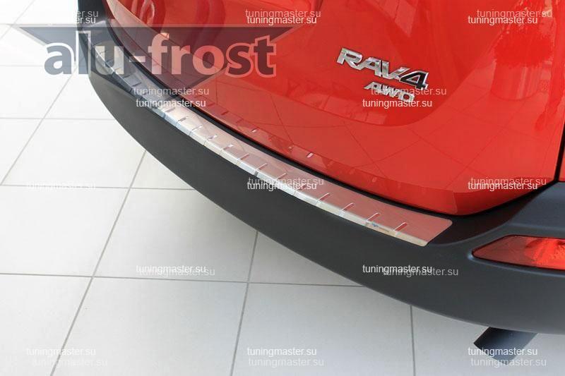 Накладка на задний бампер Toyota RAV4 профилированная с загибом