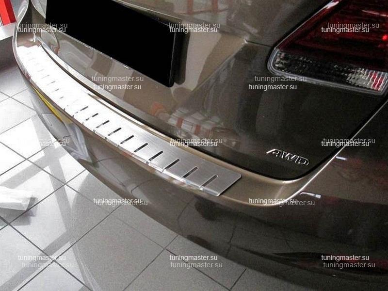 Накладка на задний бампер Toyota Venza профилированная с загибом