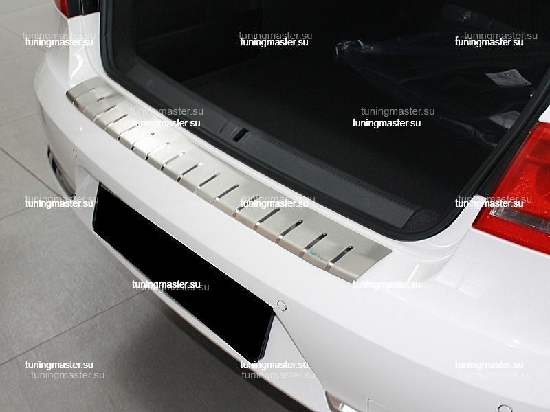 Накладка на задний бампер Volkswagen Passat B7 профилированная