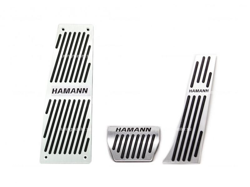 Накладки на педали BMW E60 с логотипом Hamann