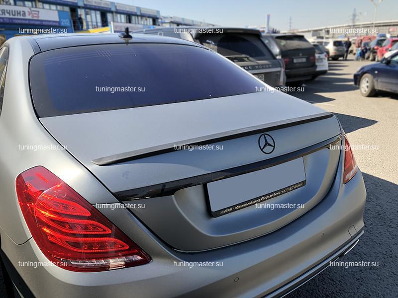 Спойлер на крышку багажника Mercedes Benz S-Class W222 AMG