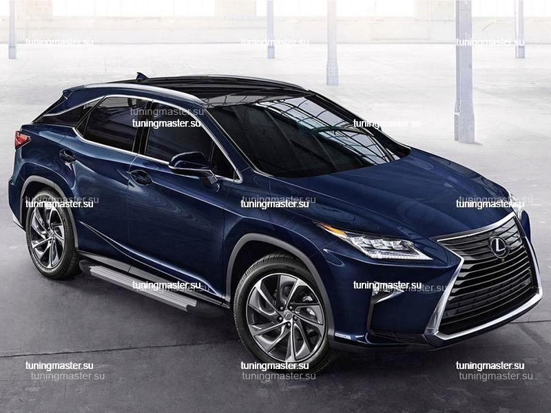 Пороги алюминиевые Lexus RX (Silver)