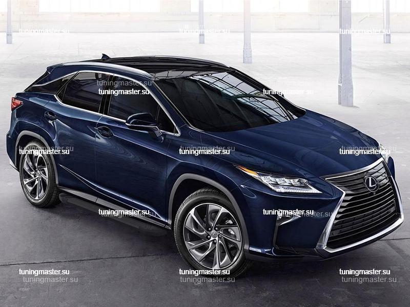 Пороги алюминиевые Lexus RX (Black)
