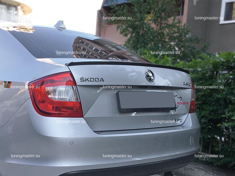 Спойлер на крышку багажника Skoda Rapid (Карбон)