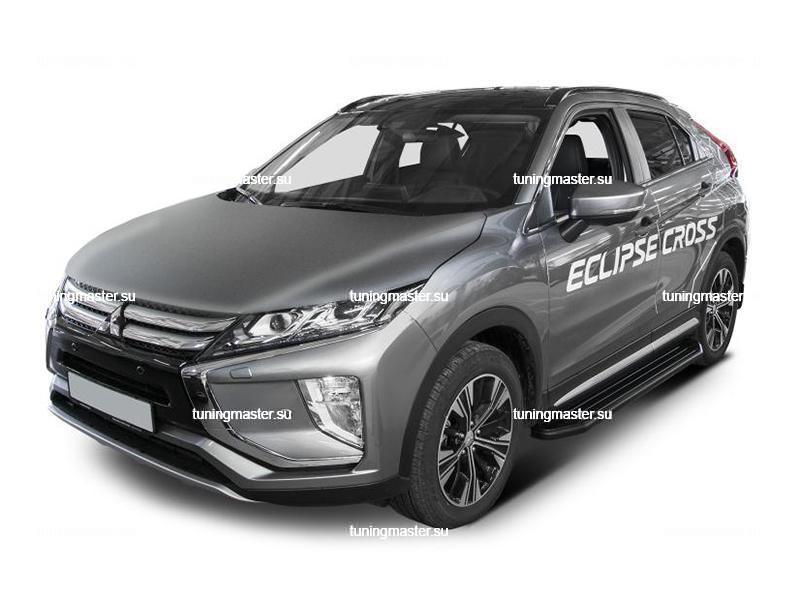 Пороги Mitsubishi Eclipse Cross (Black)