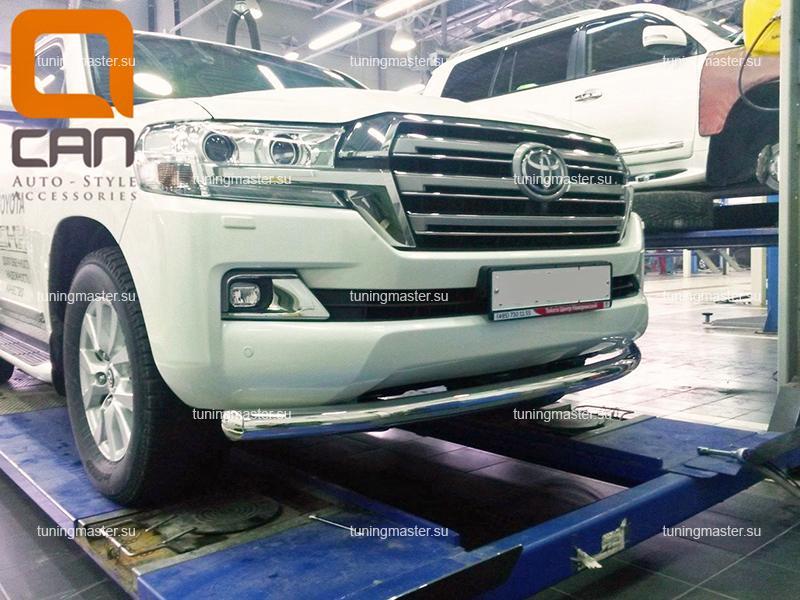 Защита переднего бампера Toyota Land Cruiser 200 труба Ø76