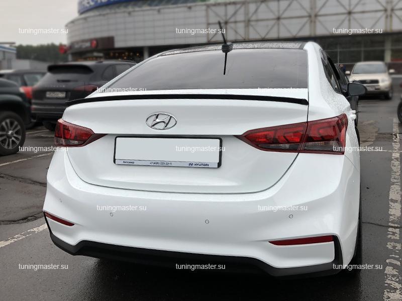 Спойлер на крышку багажника Hyundai Solaris (Карбон)