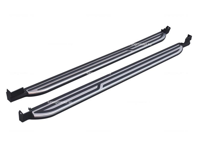 Пороги алюминиевые Mitsubishi ASX (OE Style)