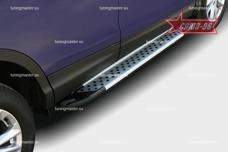 Пороги Nissan Qashqai J11 алюминиевый профиль