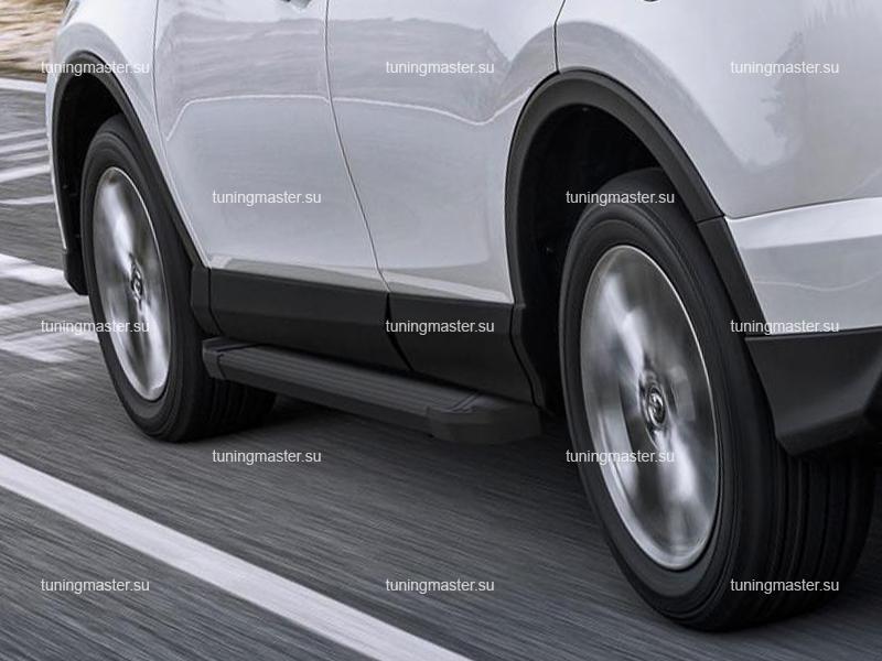 Пороги алюминиевые Toyota RAV4 (Black)