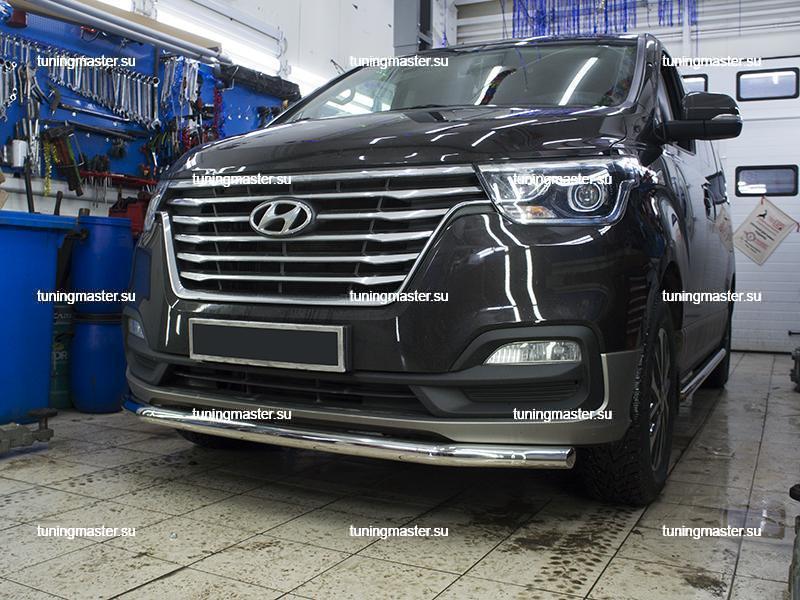 Защита переднего бампера Hyundai Grand Starex труба Ø60
