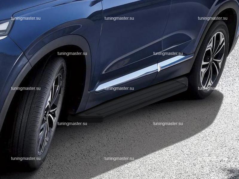 Пороги Hyundai Santa Fe (Black)
