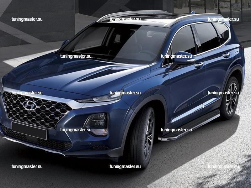 Пороги Hyundai Santa Fe (Premium)