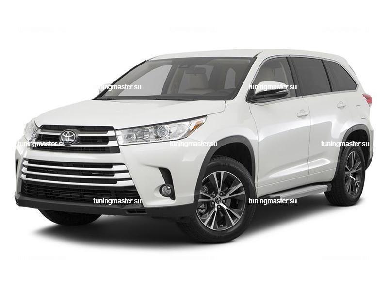 Пороги алюминиевые Toyota Highlander (Silver)