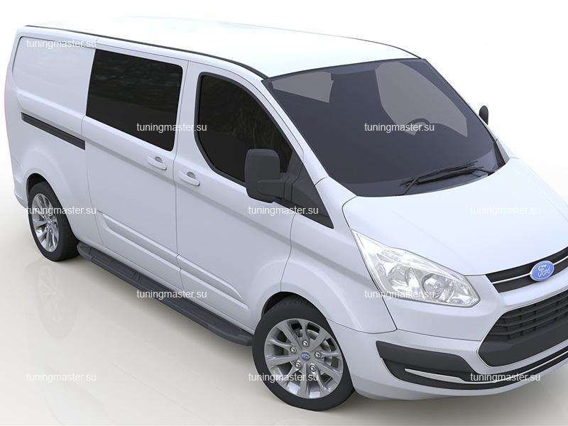 Пороги алюминиевые Ford Transit (Corund Black)