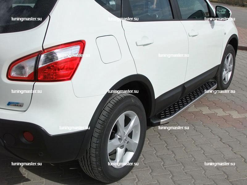 Пороги алюминиевые Nissan Qashqai (HITIT)