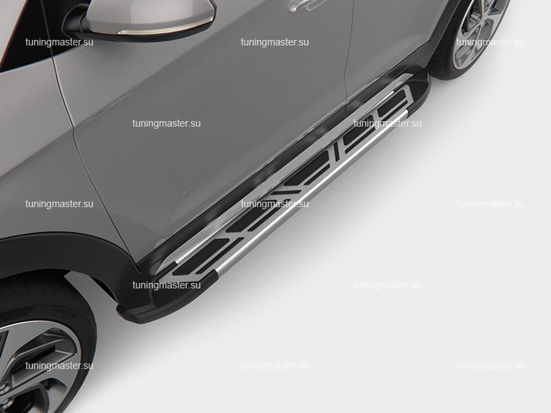 Пороги алюминиевые на авто (Sapphire 2) Canotomotiv