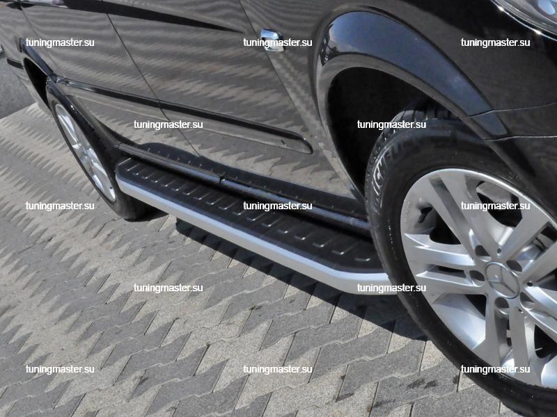 Пороги алюминиевые Mercedes Benz Vito W639 (Dolunay)