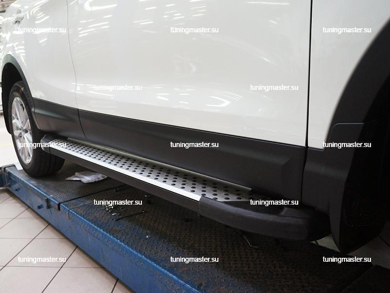 Пороги алюминиевые Nissan Qashqai J11 (Sapphire)