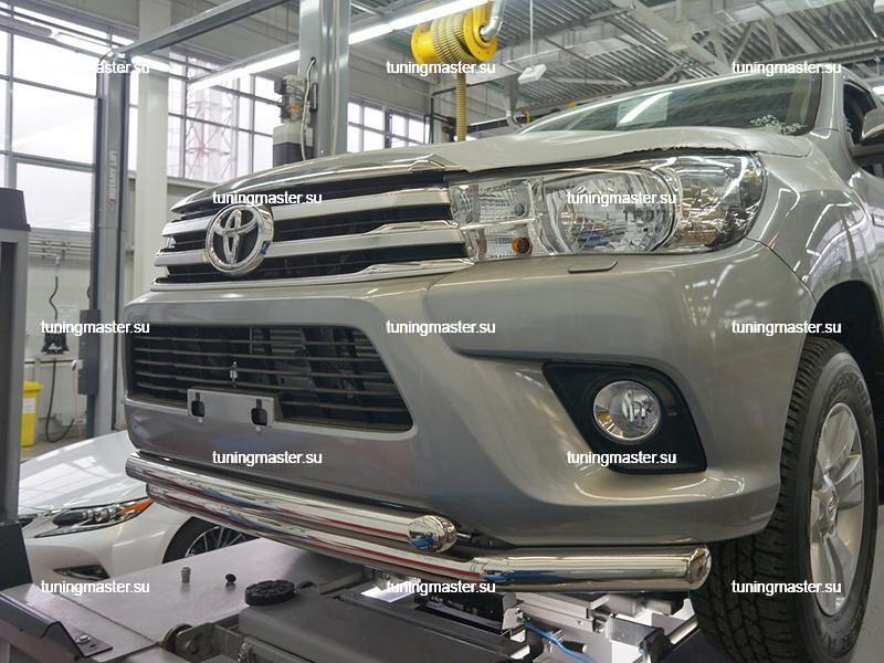 Защита переднего бампера Toyota Fortuner двойная труба
