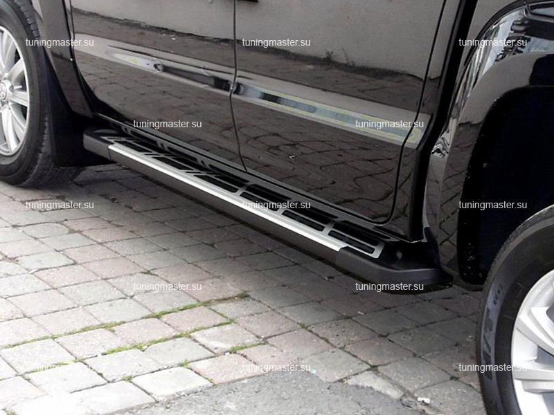 Пороги алюминиевые Volkswagen Amarok (Sunrise)