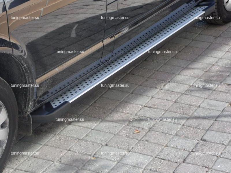 Пороги алюминиевые Volkswagen Multivan (Almond)