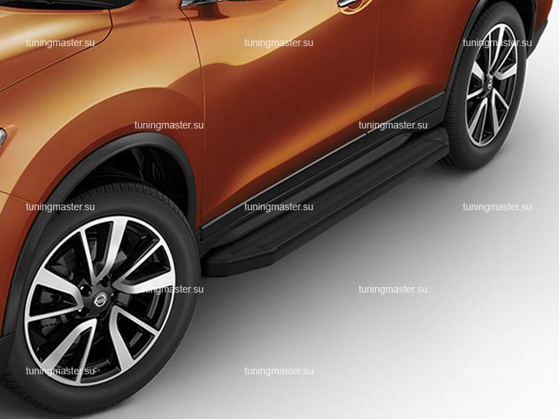 Пороги Nissan X-Trail T32 Рестайлинг (Premium Black)