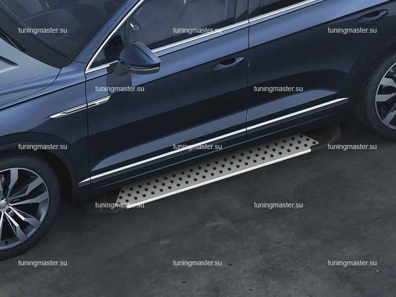 Пороги алюминиевые Volkswagen Touareg 3 (BMW Style)