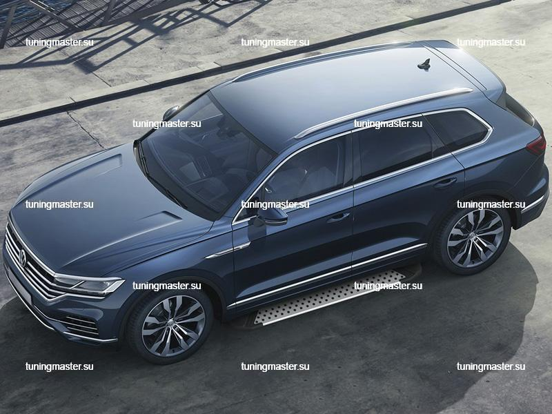 Пороги алюминиевые Volkswagen Touareg (BMW Style)