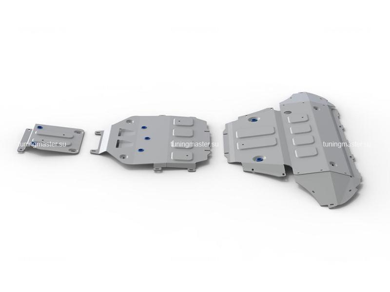 Комплект защит для Volkswagen Touareg (алюминиевая)