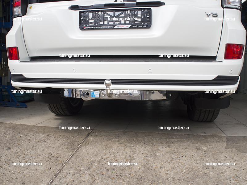 Фаркоп Toyota Land Cruiser 200 Executive с хромированной накладкой (8)