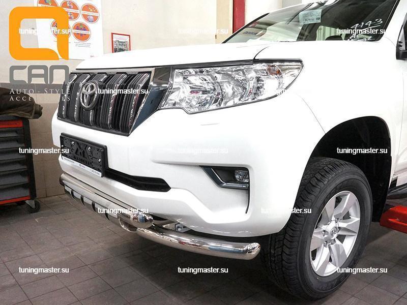 Защита переднего бампера Toyota Land Cruiser Prado 150 (Shark)