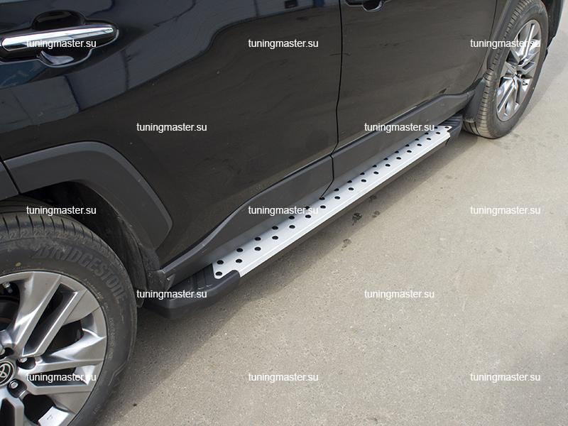 Пороги алюминиевые Toyota RAV4 XA50 (Bmw Style)