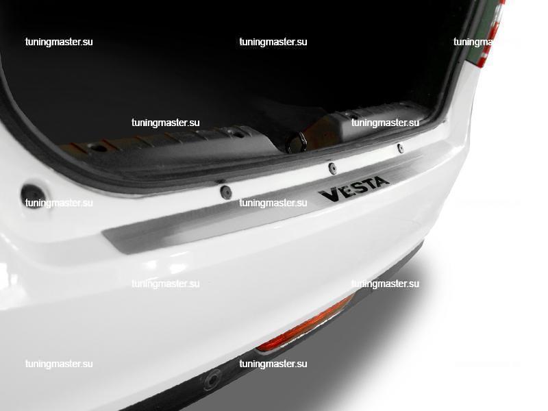 Накладка на задний бампер LADA Vesta с лого