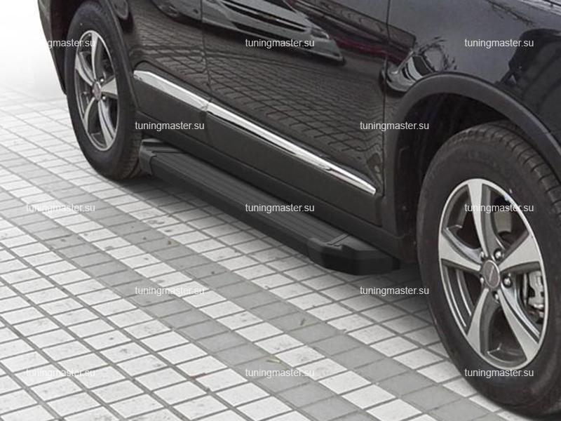 Пороги алюминиевые Haval H6 (Black)
