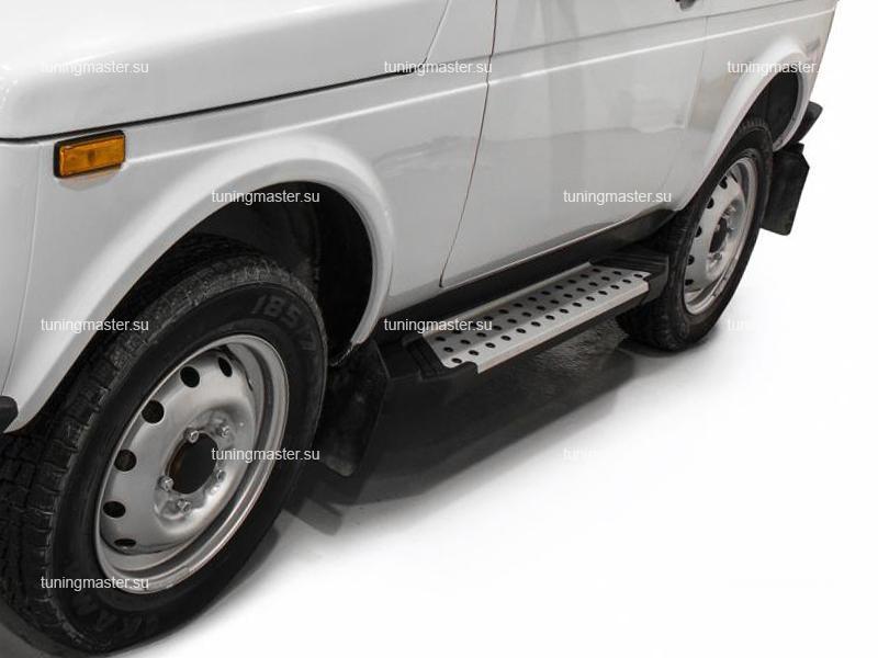 Пороги алюминиевые Lada Niva (BMW Style)