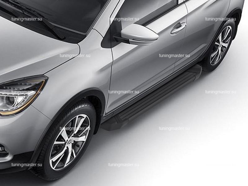 Пороги алюминиевые Lifan X50 (Black)