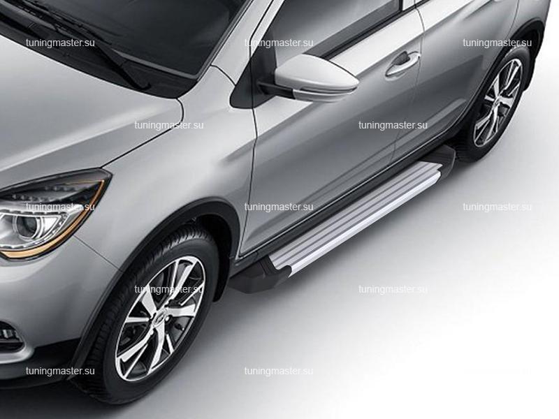 Пороги алюминиевые Lifan X50 (Silver)
