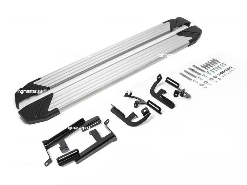 Пороги алюминиевые Lifan X60 (Silver) рестайлинг