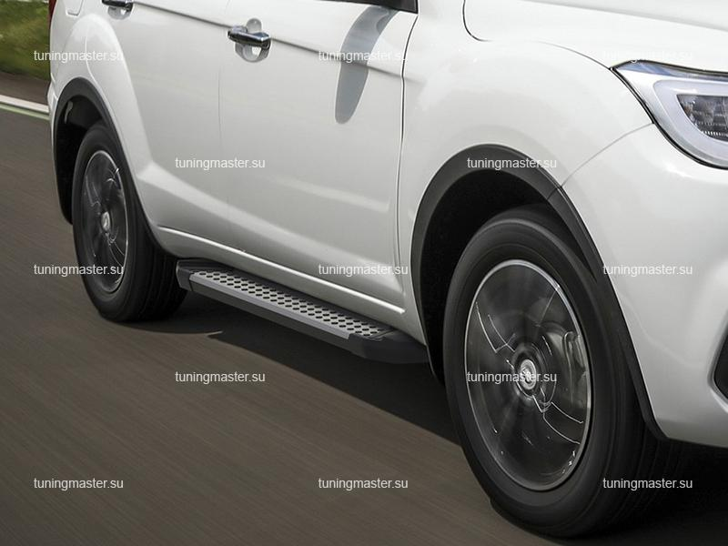 Пороги алюминиевые Lifan X60 (BMW Style) рестайлинг