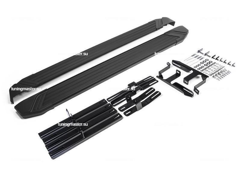 Пороги алюминиевые Lifan X60 (Black)