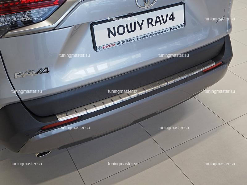 Накладка на задний бампер Toyota RAV4 XA50 профилированная с загибом