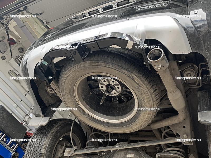Фаркоп Mitsubishi Pajero Sport 3 с нержавеющей накладкой (быстросъемный)
