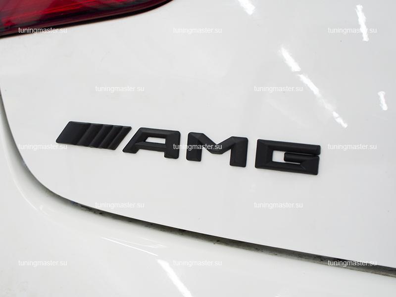 Наклейка на багажник AMG (черная)