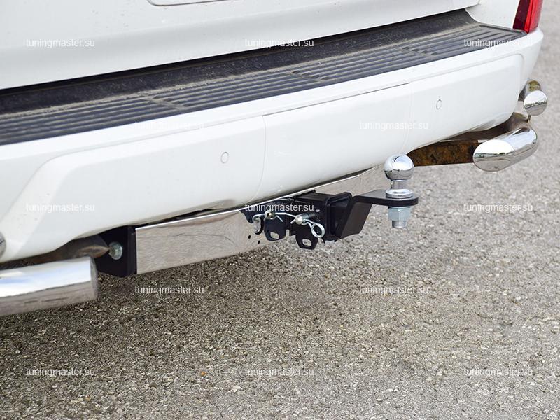 Фаркоп Toyota Land Cruiser 200 с хром накладкой (быстросъемный)